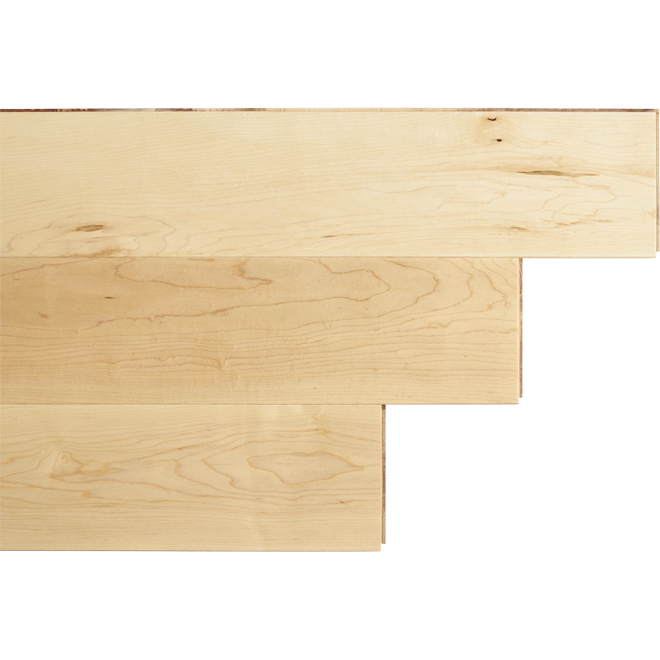 "Maple Wood Flooring - 4-1/2"" x 1/2"" - Natural"