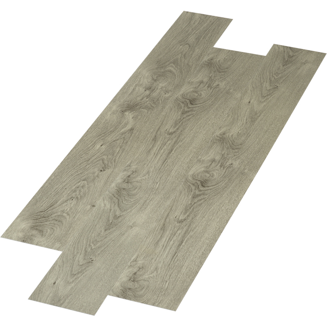 "SPC Flooring - 4 mm - 6"" x 48"" - Aluminum - 24 sq.ft."