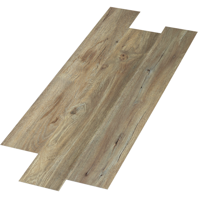 "SPC Flooring - 4 mm - 6"" x 48"" - Nickel - 24 sq.ft."