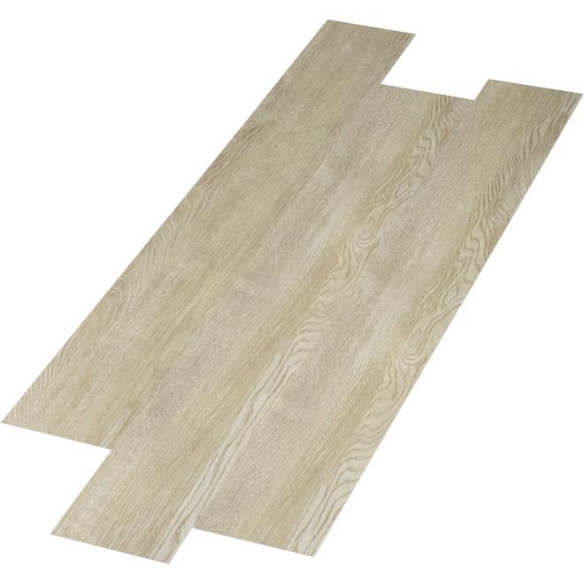 "Couvre-plancher PCP, 4 mm, 6"" x 48"", platine, 24 pi²"