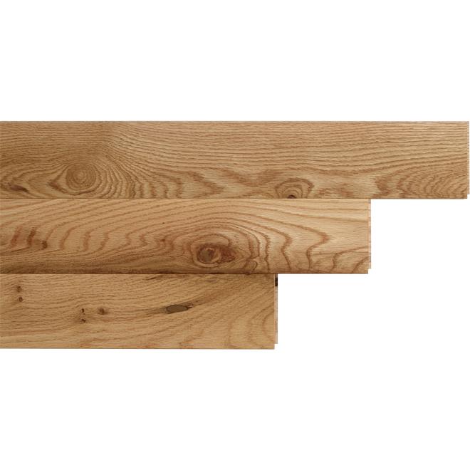 "Red Oak Hardwood Flooring- 3-1/4"" x 3/4"" - Natural"