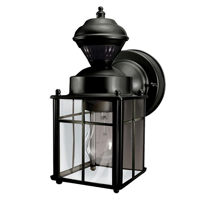 Wallmount lantern with motion sensor black rona wallmount lantern with motion sensor black aloadofball Image collections