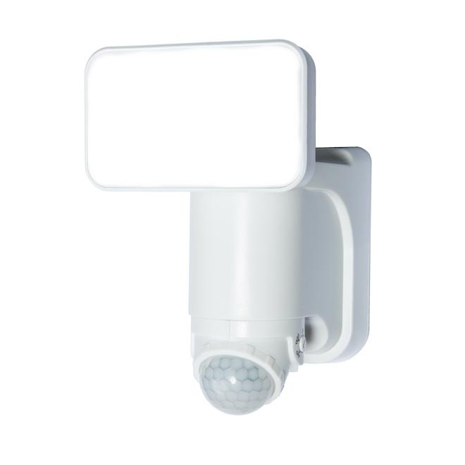 Simple lumière solaire DEL Heath Zenith, détecteur de mouvement, technologie réserve d'énergie, 180°, blanc