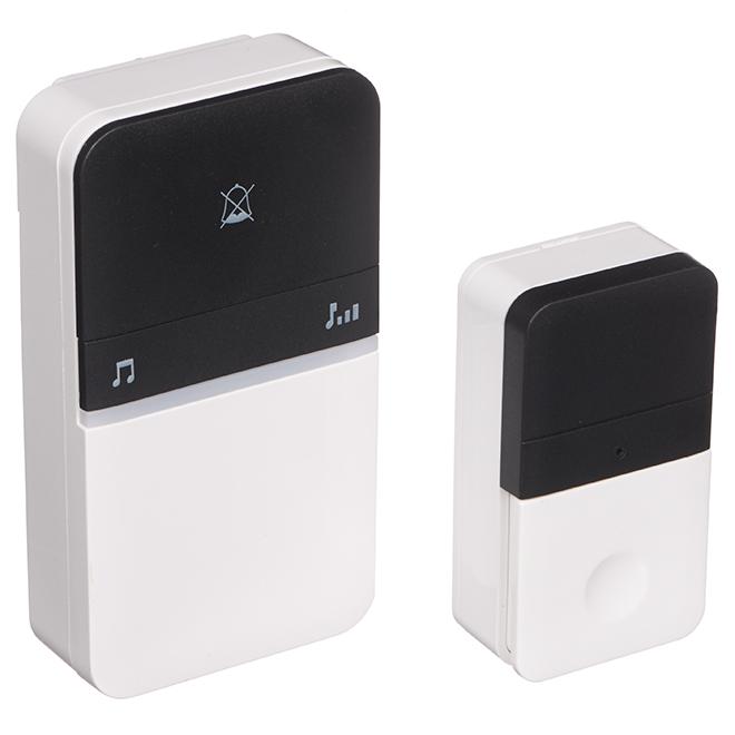 Heath Zenith Wireless Door Chime- Kinetic Energy- Black/White