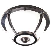 Plafonnier extérieur à DEL de Heath Zenith, détecteur de mouvement 360°, noir