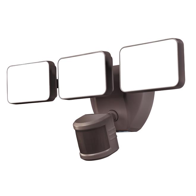 Triple lumières DEL à détection de mouvement Heath Zenith, 3000 Lumens, 240°, bronze