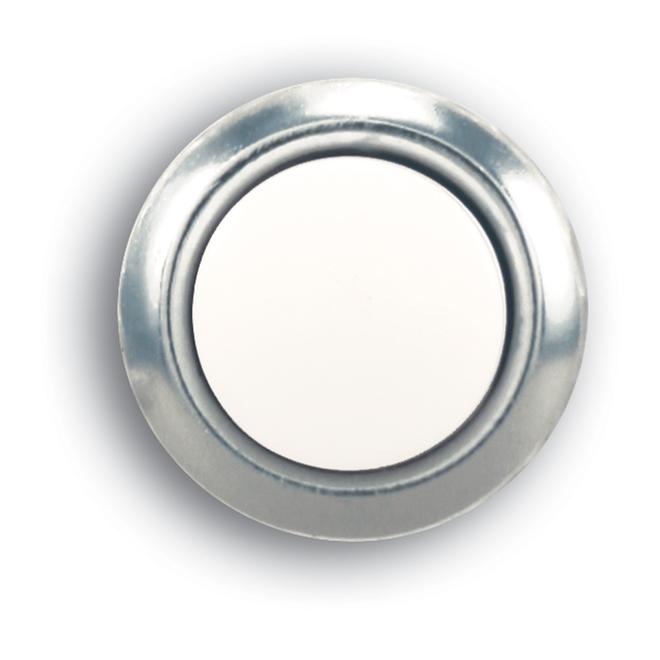 Sonnette de porte ronde à bouton-poussoir Heath Zenith câblée, illuminée, argent