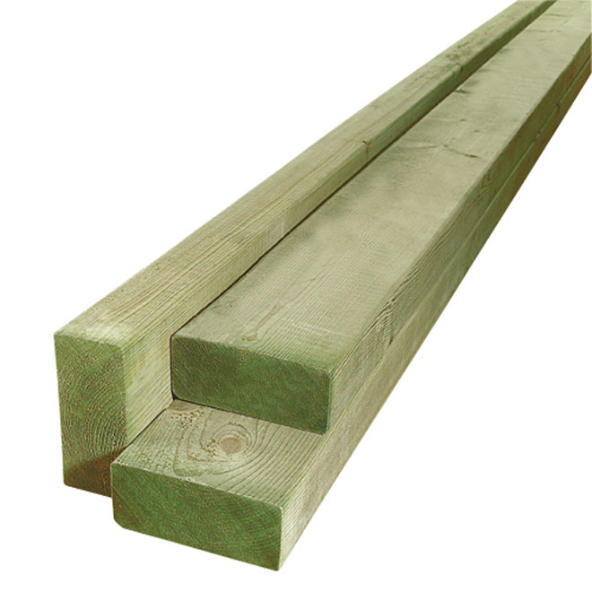 Treated Wood Green - 1 in x 4 in x 10 ft