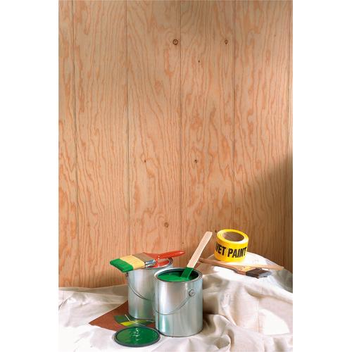 Wood Siding Panel with a Cedar Finish - 4' x 8'