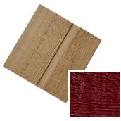 "Country Red ""Ridgewood D-5"" Prefinished Siding"