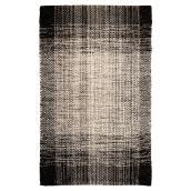Tapis décoratif « Dawlish », noir, 25 po x 45 po