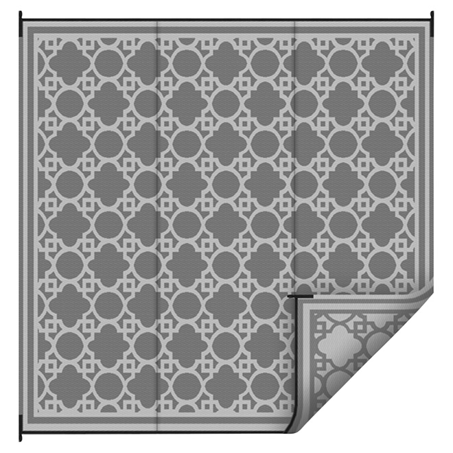 Korhani Home Outdoor Rug Grey 9 X 12 K14289 Rona