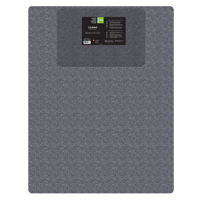 Combo de tapis d'entrée, gris