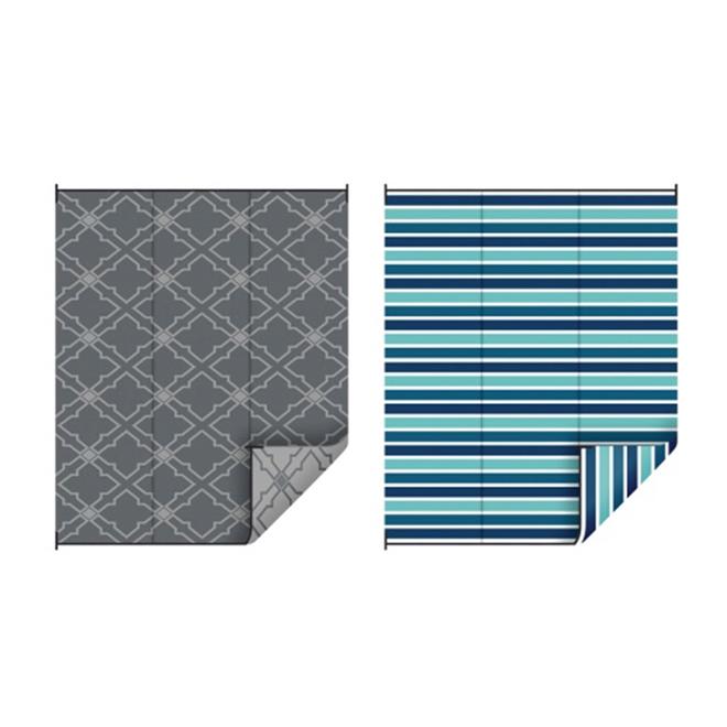 Outdoor Woven Rug - Assorted Designs - 9' x 12'