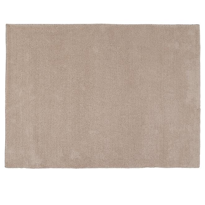 Tapis décoratif Shag Kipling, 5' x 7', taupe