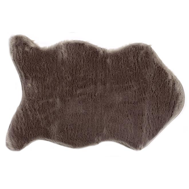 tapis d coratif en fausse fourrure 24 x 36 gris rona. Black Bedroom Furniture Sets. Home Design Ideas