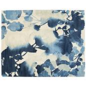 Tapis décoratif Brodie, bleu, 7' 11