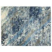 Tapis décoratif Stafford, bleu, 7' 11