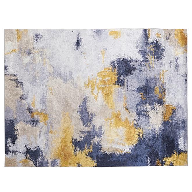 Korhani Melgund Area Rug - Beige/Grey/Yellow - 5-ft x 7-ft