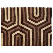 Tapis décoratif Stone, brun, 6' 7