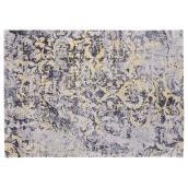 Tapis décoratif Picton, gris/jaune, 4' 11