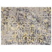 Tapis décoratif Picton, gris/jaune, 6' 7