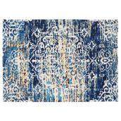 Tapis décoratif Sherborne, bleu, 4' 11