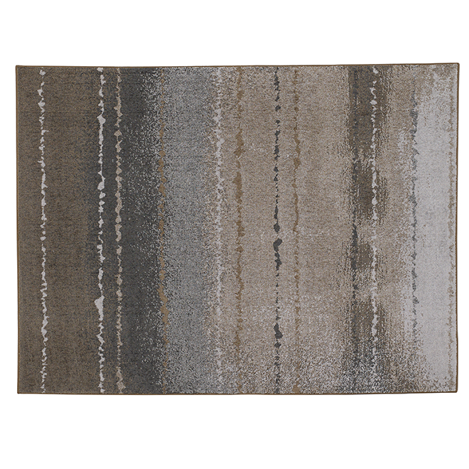 Tapis d'intérieur Careston de Korhani, gris/brun, 5 pi x 7 pi