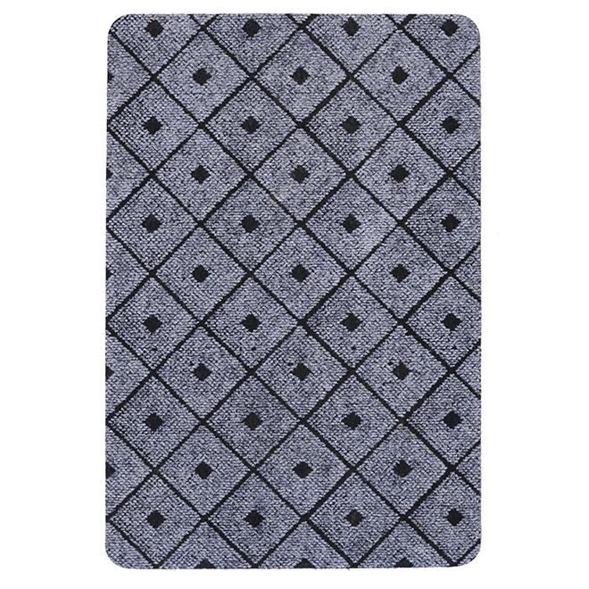 Rectangular Rubber Mat - Affleck - Grey - 2' x 3'