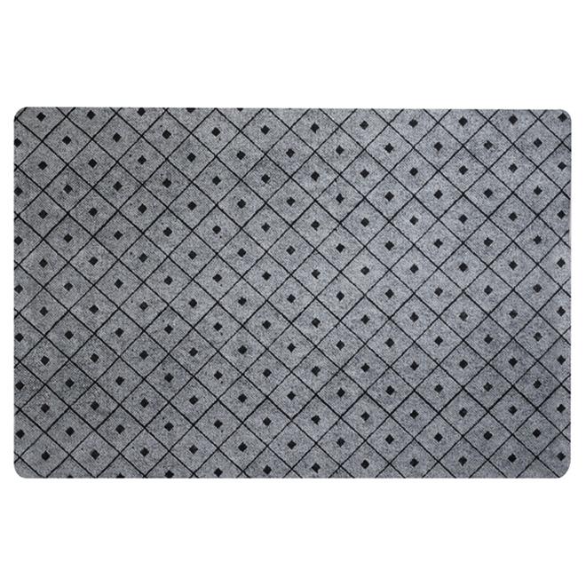 Rubber Utility Mat - 4' x 6' - Grey