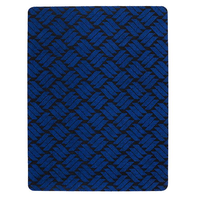 Rubber Rectangular Utility Mat - 3' x 4' - Blue