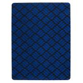 Rubber Rectangular Utility Mat - 3' x 4' - Blue