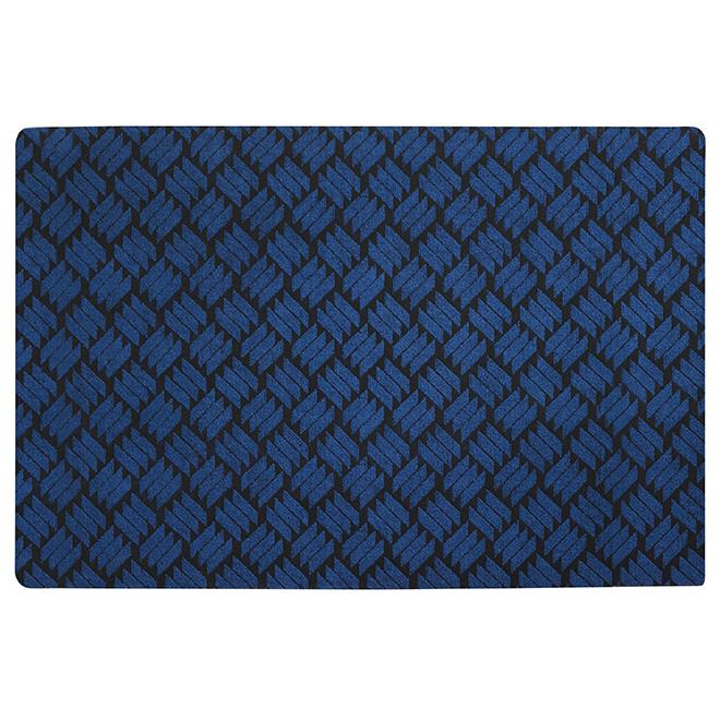 Rubber Rectangular Utility Mat - 4' x 6' - Blue
