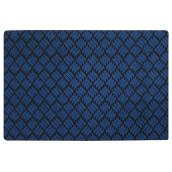 Rubber Rectangular Utility Mat - 4' x 6' - Blue