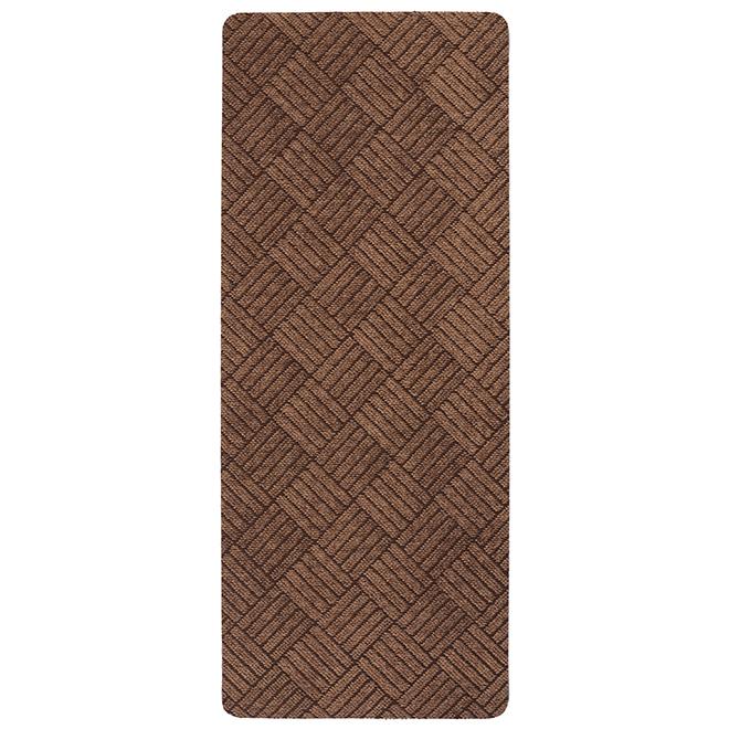 Tapis utilitaire rectangulaire en caoutchouc, 2' x 5', brun