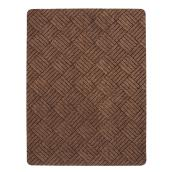 Rubber Rectangular Utility Mat - 3' x 4' - Brown