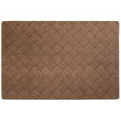 Rubber Rectangular Utility Mat - 4' x 6' - Brown