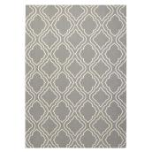 Tapis de coton, 140 cm  x  200 cm, gris/blanc