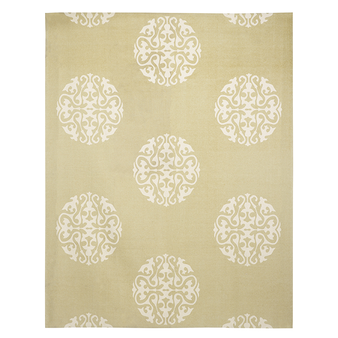Cotton Mat - 180 cm x 220 cm - Beige/White