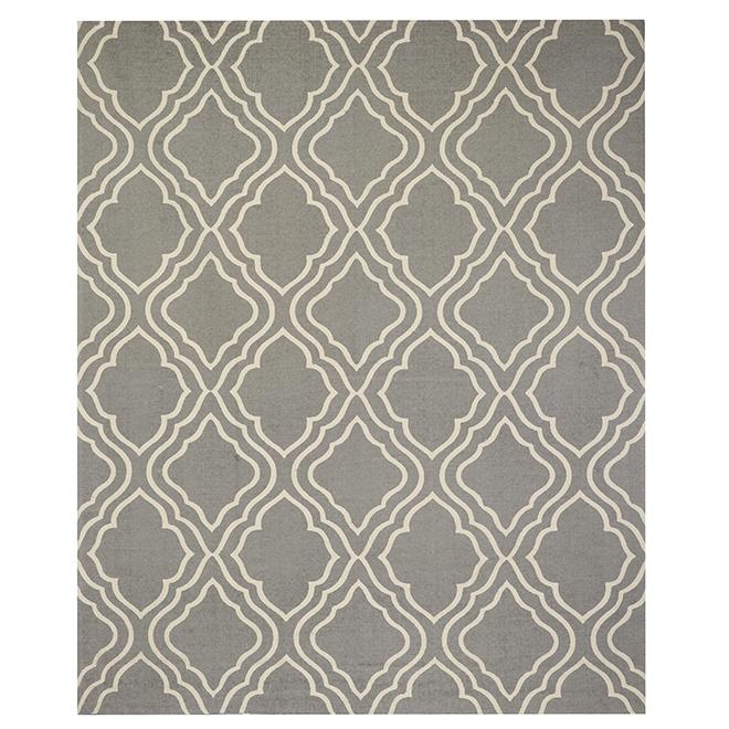 Cotton Mat - 180 cm x 220 cm - Grey/White