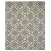 Cotton Mat - 180 cm x 220 cm - Grey/White
