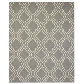 Tapis de coton, 180 cm  x  220 cm, gris/blanc