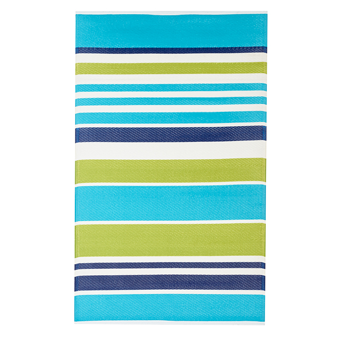 Studio Outdoor Rug - Heuwel - 35-in x 59-in - Blue and Green