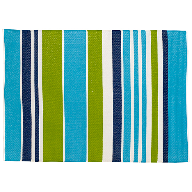 "Outdoor Rug - ""Heuwel"" Model - 59"" X 84"" - Blue/Green"