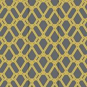 "Outdoor Rug - ""Glenapp"" Model - 8.8' X 12' - Yellow/Grey"