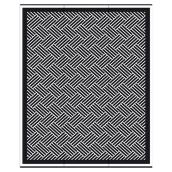 Studio Reversible Outdoor Rug - Hedingham - 8.8-ft x 12-ft- Black and White