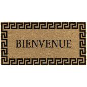 "Entrance Mat - 18"" x 30"" - 100% Coir - Brown and Black"