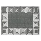 Korhani Home Indoor Carpet - Meander - 5' x 7' - Silver Grey