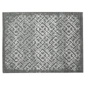 Korhani Home Indoor Carpet - Meander - 5' x 7' - Silver Grey