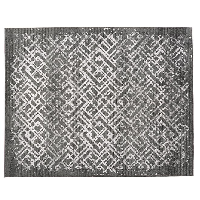 Korhani Home Indoor Carpet - Clathra - 8' x 10' - Silver Grey